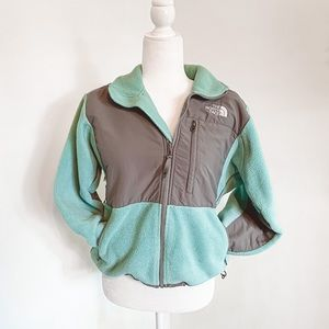 The North Face Teal and Gray Jacket Sherpa Jacket